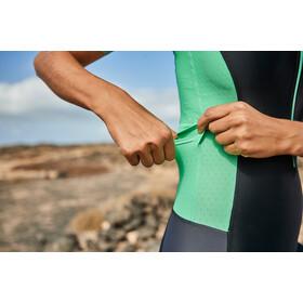 Zone3 Aquaflo+ Kombinezon triathlonowy z krótkim rękawem Kobiety, black/grey/mint